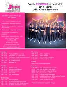JJIU dance studio schedule