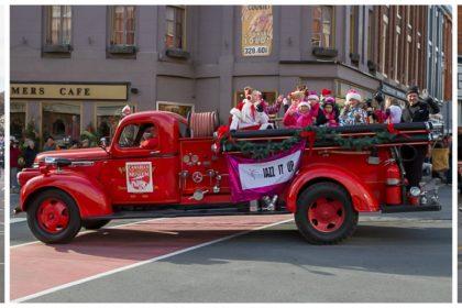 jennifers jazz it up dancers in the 2016 port hope santa parade