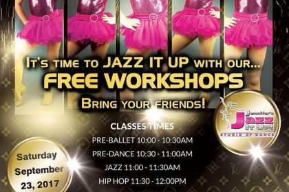 Free Dance Class Workshops at Jennifers Jazz It Up Studio of Dance in Port Hope