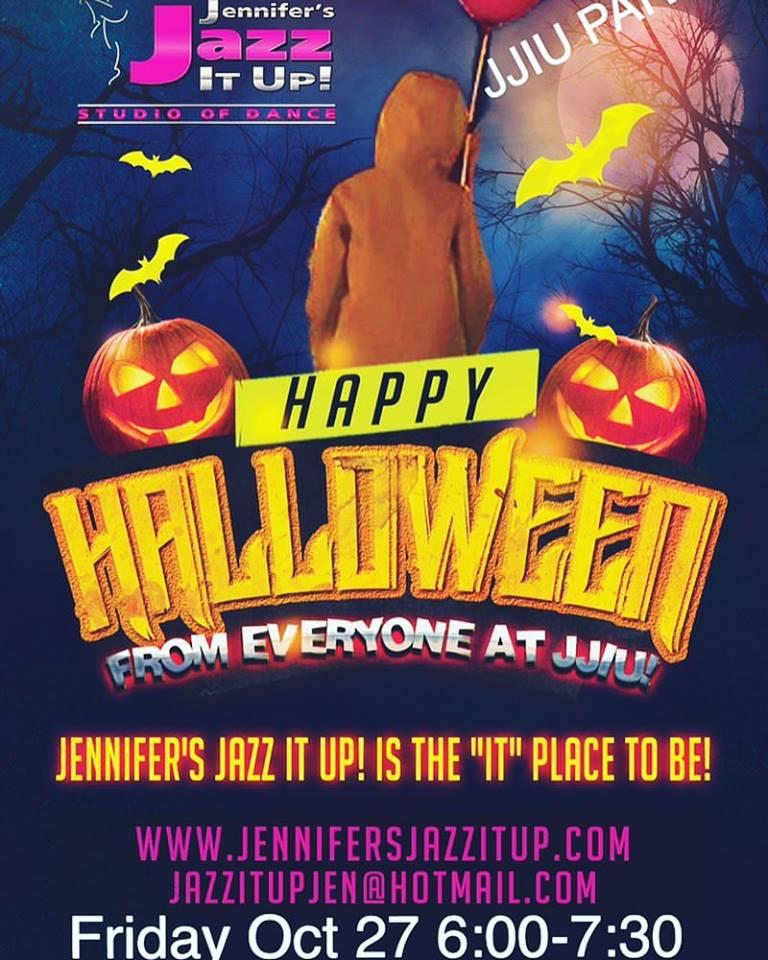 JJIU dance studio is having a halloween party