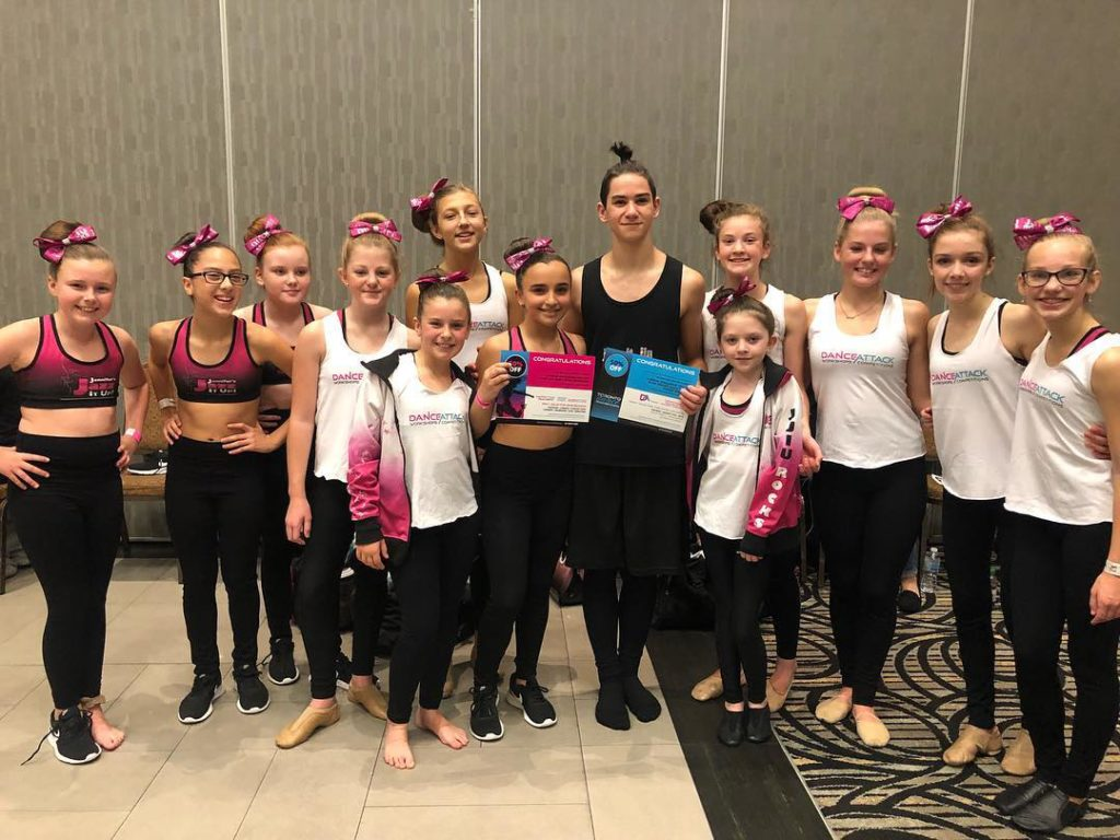 Dance attack workshop scholarship winners from Jennifers Jazz It Up in Port Hope