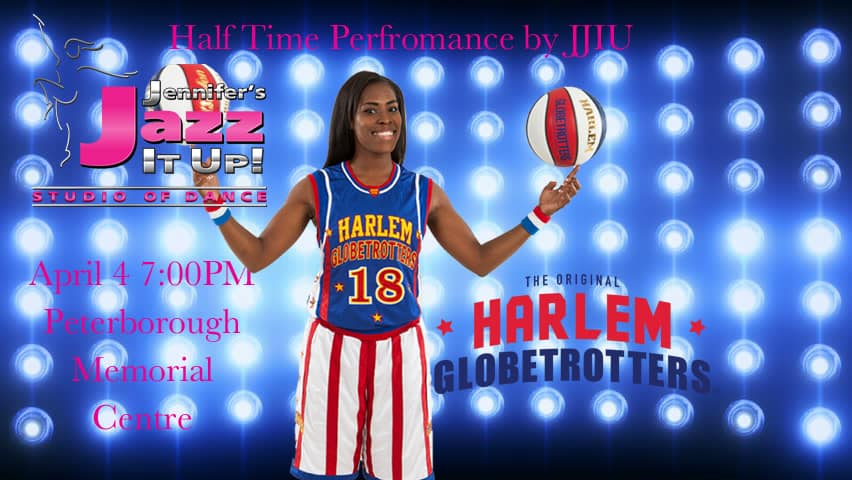 JJIU half time performance with the Harlem Globetrotters in Peterborough