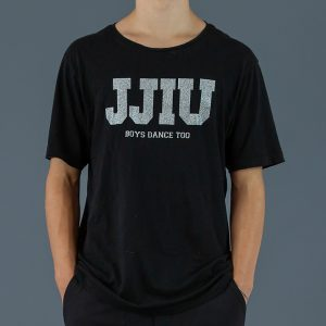 jjiu black and silver boys shirt