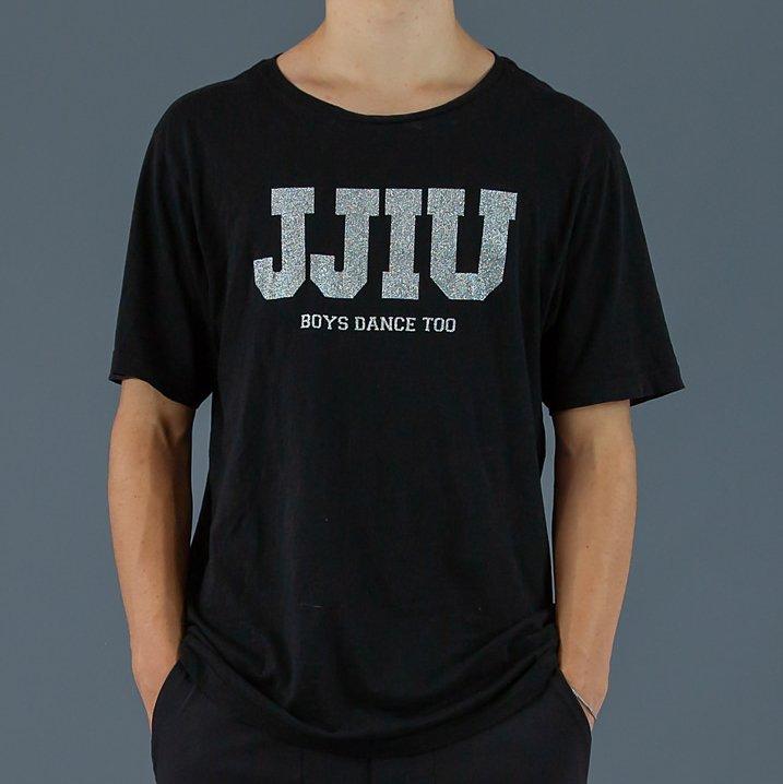 jjiu black and silver boys shirt