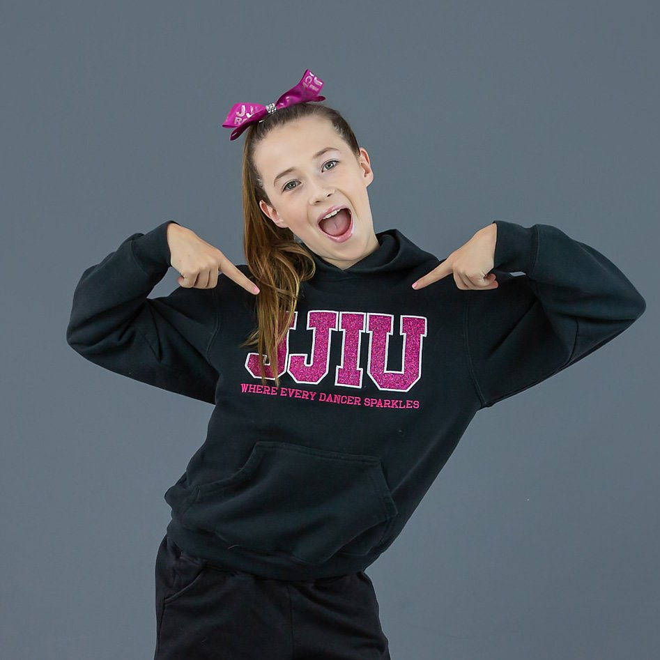 jjiu pink sparkle sweater