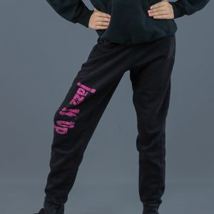 jjiu pink sparkle track pants