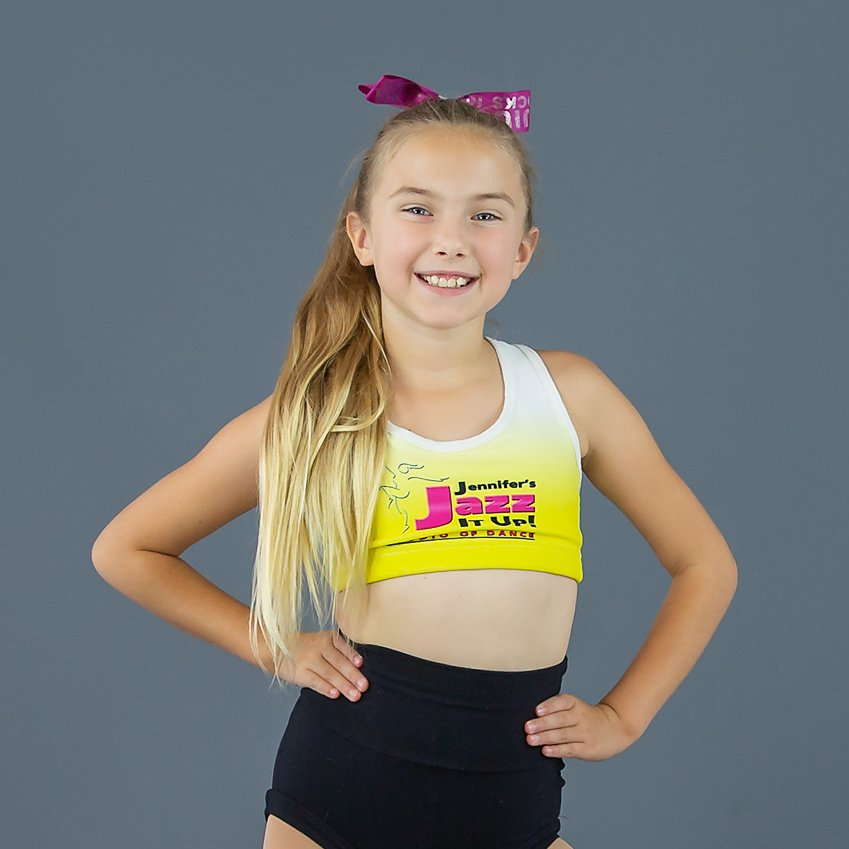 JJIU yellow sports bra