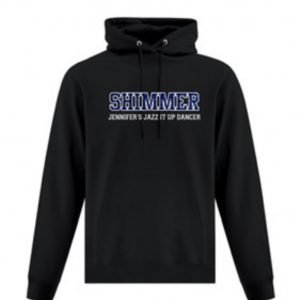 Jennifer's Jazz It Up competitive team black sweatshirt hoodie