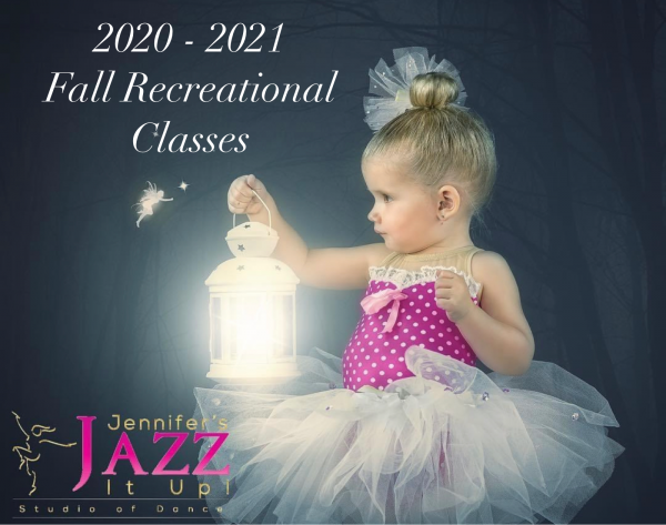 young ballerina in tutu holding a lantern with a fairy at Jennifer's Jazz it Up studio of dance in Cobourg