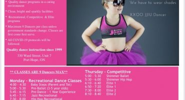dance classes for kids in port hope Cobourg northumberland for kids activities jazz hip hop ballet best dance studio clean dance studio