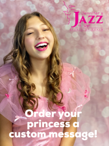image of a beautiful pink princess giving a custom greeting in port hope and cobourg